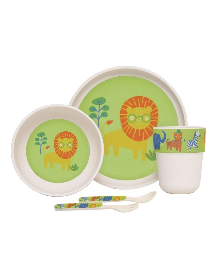 Bamboo Meal Set with Cutlery Wild Thing image 1