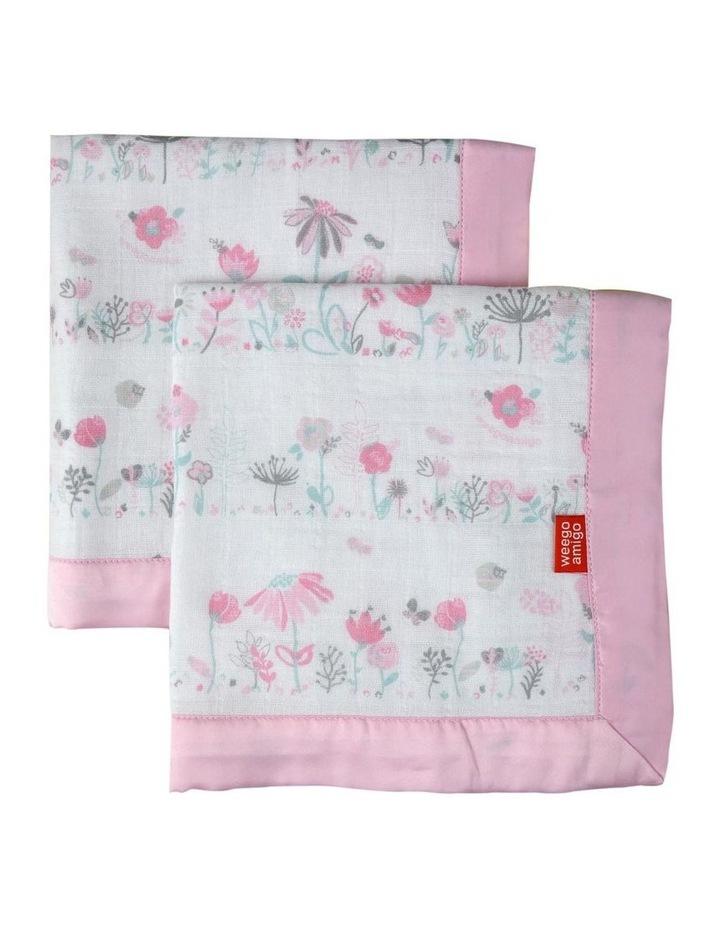 Weego Muslin Security Blanket 2pk - Garden Floral image 1