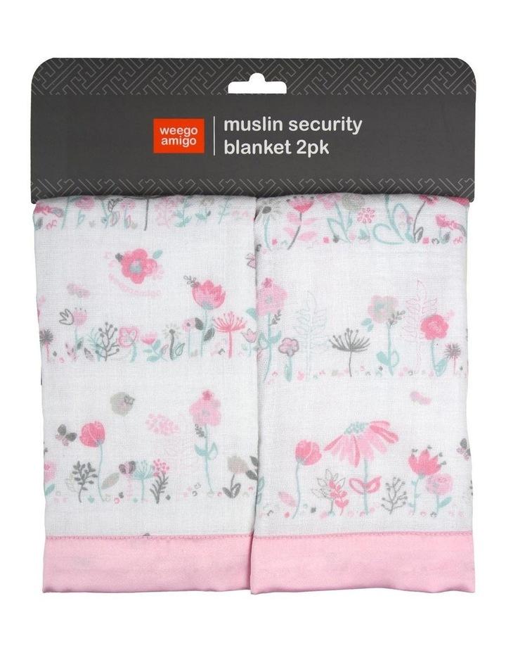 Weego Muslin Security Blanket 2pk - Garden Floral image 2