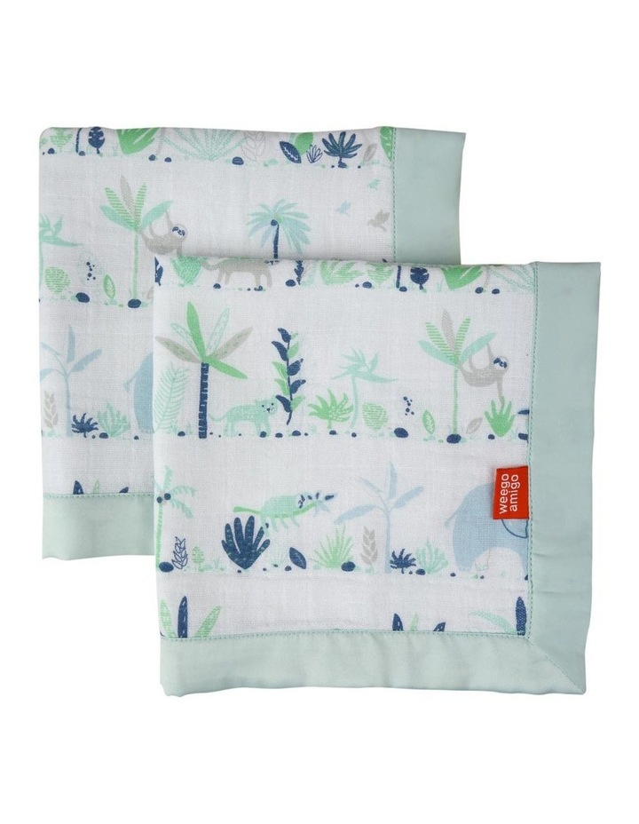 Weego Muslin Security Blanket 2pk - Jungle image 1