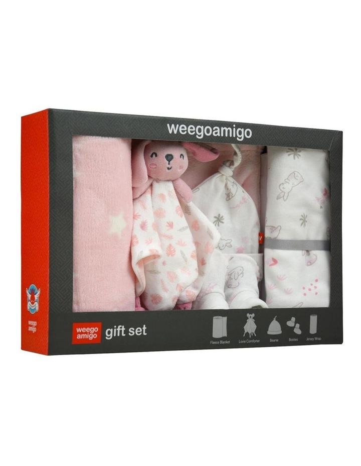 Bonny the Bunny Weego Jersey Fleece Gift Set in Pastel Pink image 1