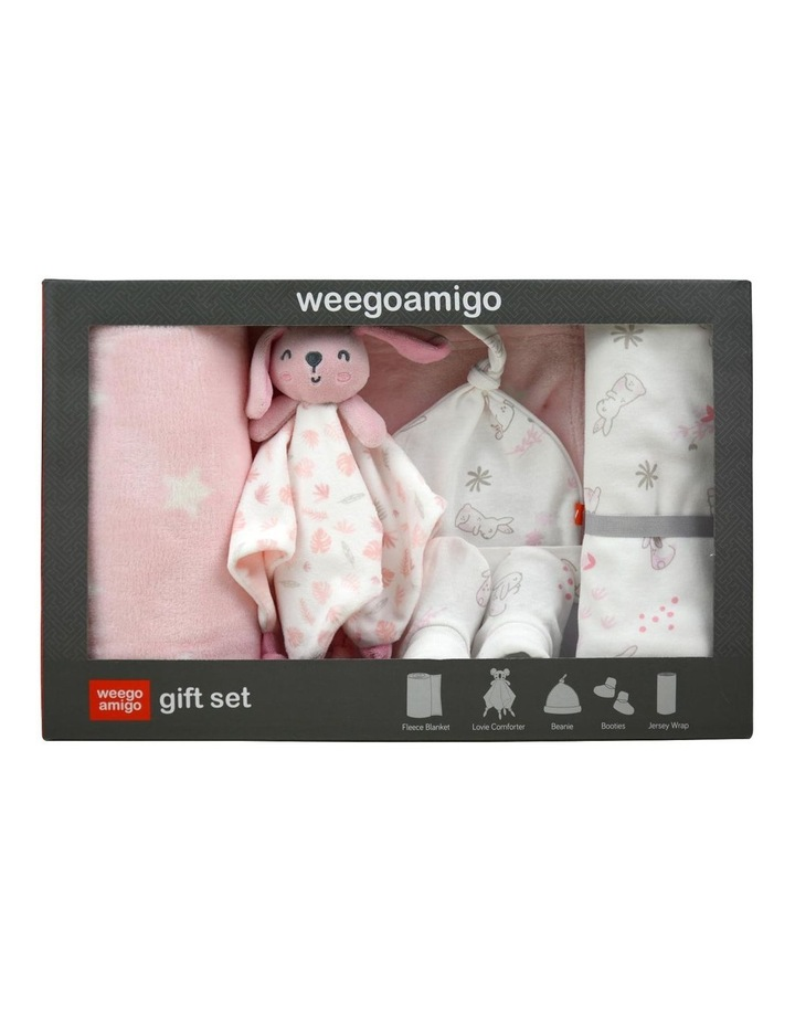 Bonny the Bunny Weego Jersey Fleece Gift Set in Pastel Pink image 2