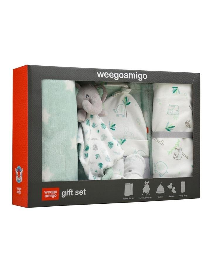 Echo the Elephant Weego Jersey & Fleece Gift Set in Green image 1