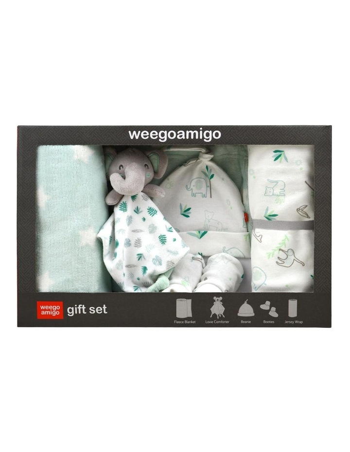 Echo the Elephant Weego Jersey & Fleece Gift Set in Green image 2