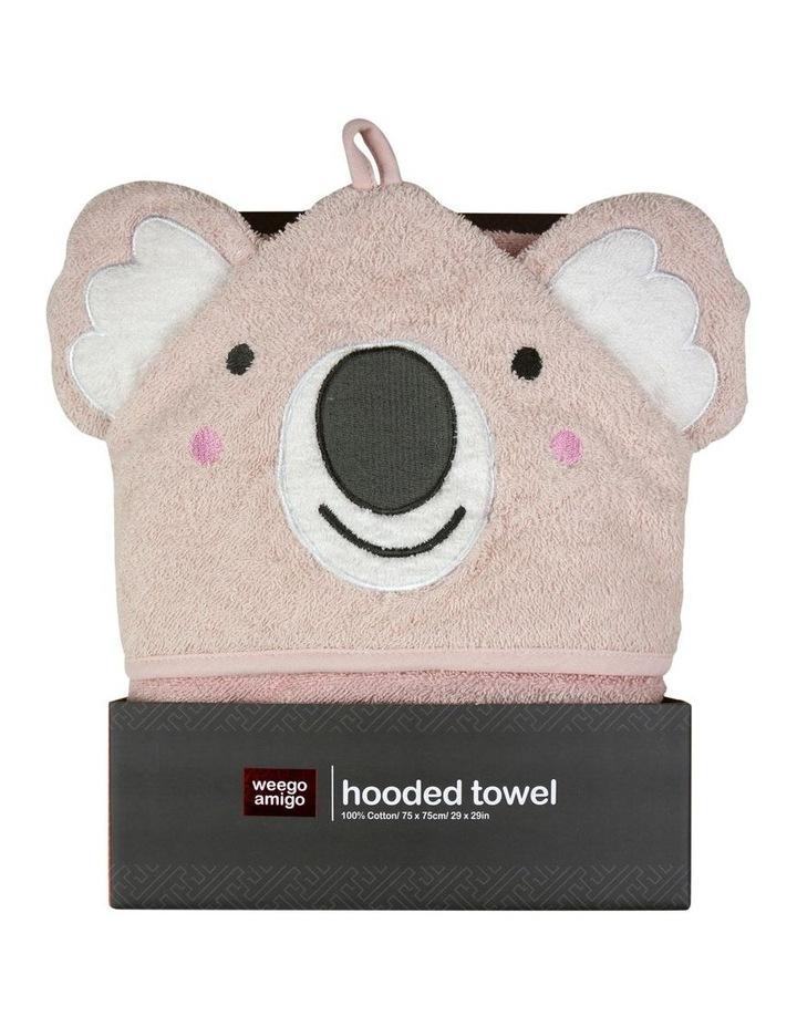 Colourplay Hooded Towel - Pink Koala image 1