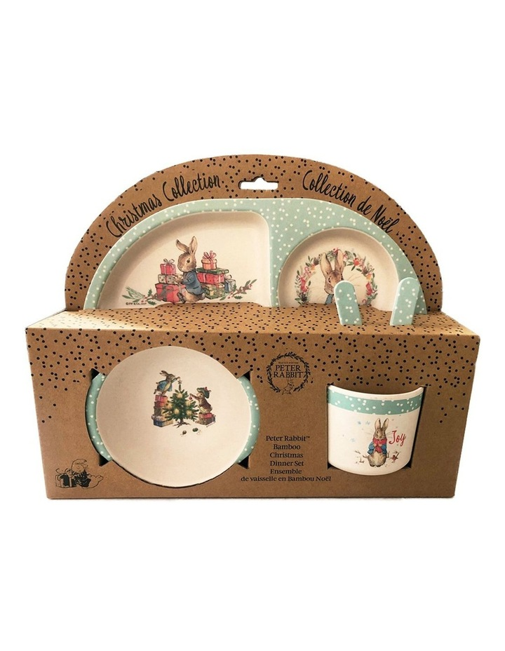 Peter Rabbit Dinner Set:  Christmas Bamboo Set image 1