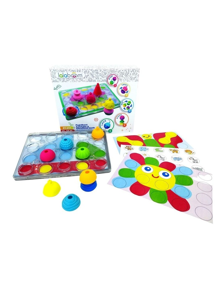 Lalaboom:  Peg Board with 20 pieces Beads image 1