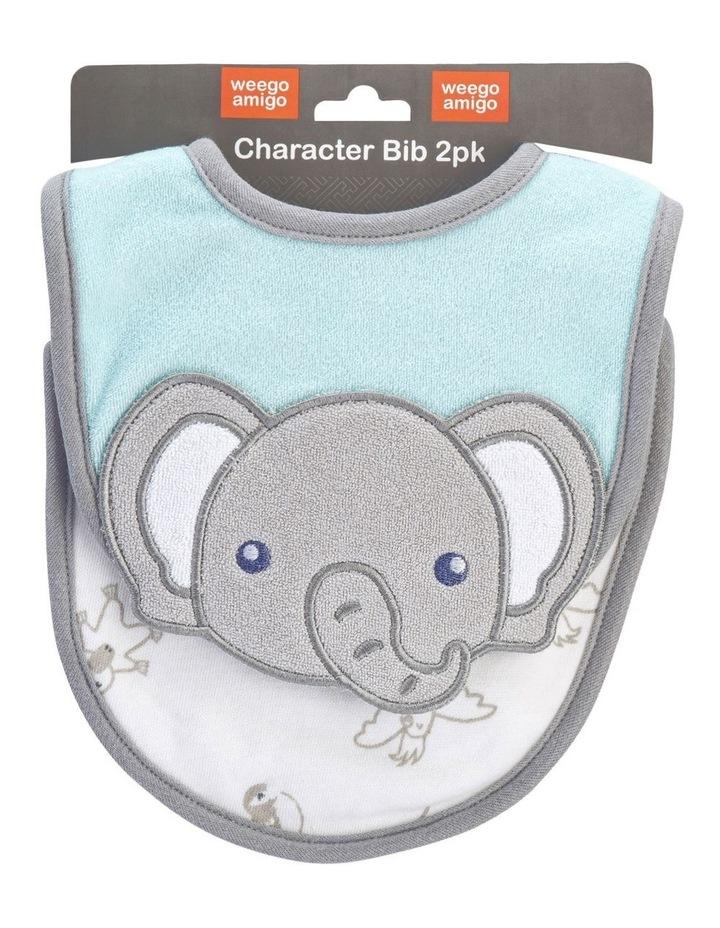 Ernie the Elephant Character Bib 2 Pack image 1