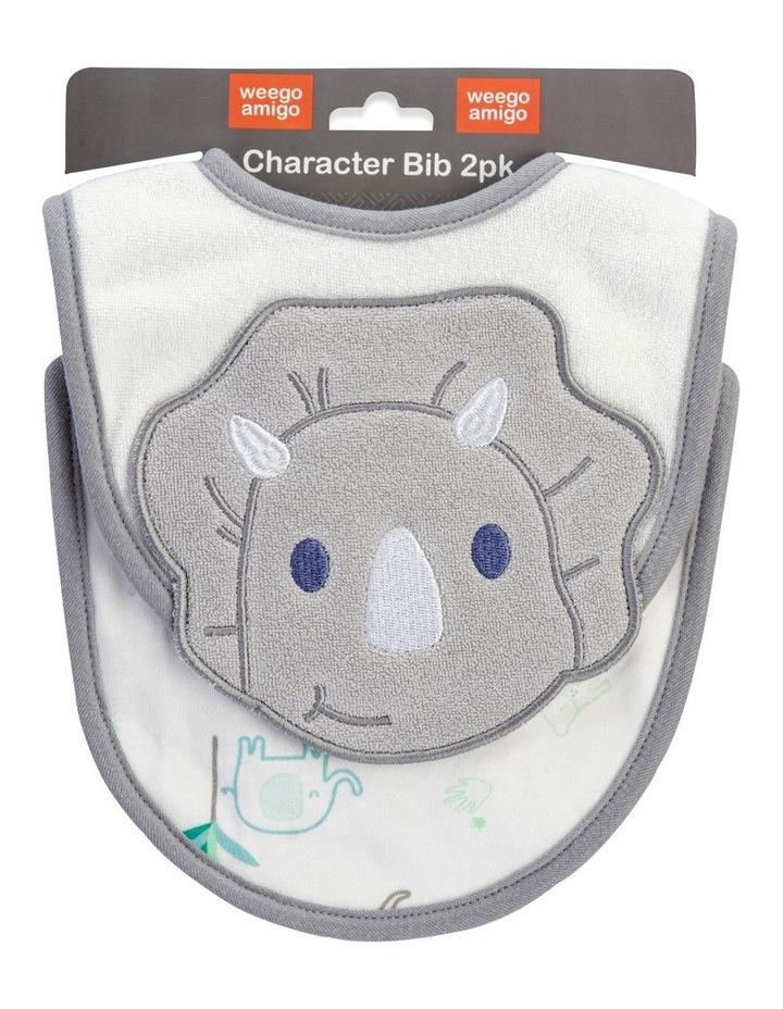 Daryl the Dino Character Bib 2 Pack image 1