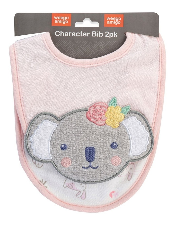 Kimmy the Koala Character Bib 2 Pack image 1