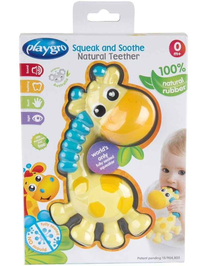 Playgro Squeak and Soothe Natural Teether image 3