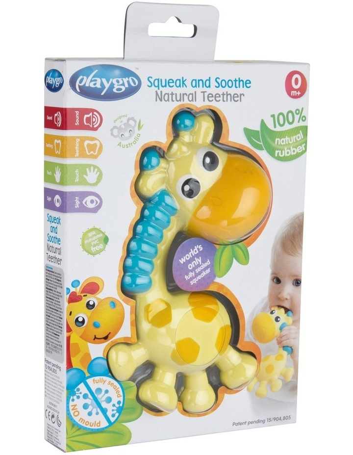 Playgro Squeak and Soothe Natural Teether image 4