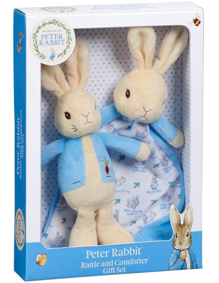 Peter Rabbit Rattle & Comfort Blanket Gift Set image 1