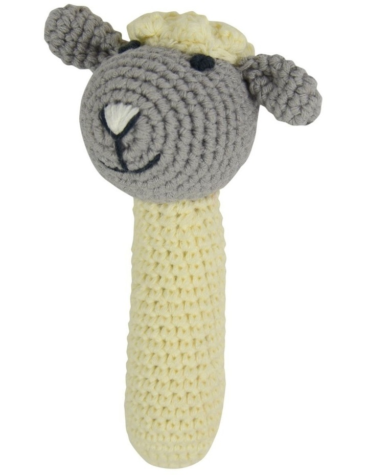 Crochet Rattle - Little Lamb image 1