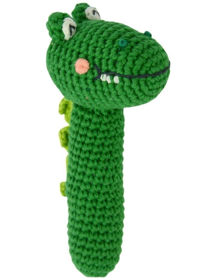 Crochet Rattle Curious Croc image 1