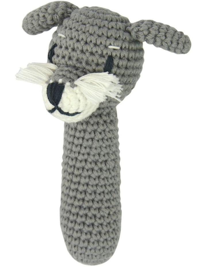 Crochet Rattle Schnitz Schnauzer image 1