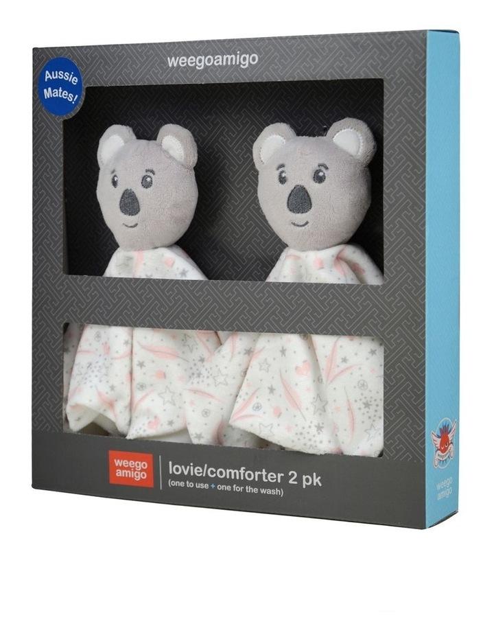 Lovie/Comforter 2Pk - Aussie Mates Pink image 2