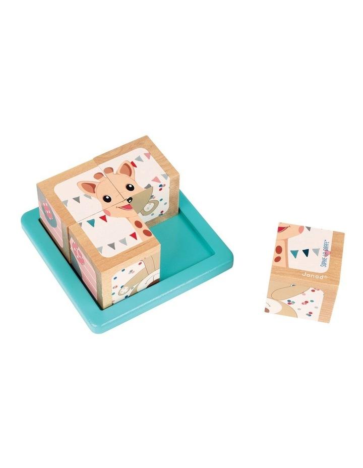 4 Block Cube Wooden Puzzle image 1