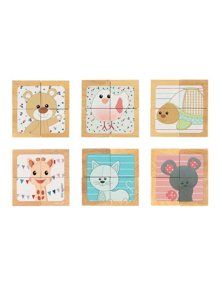 4 Block Cube Wooden Puzzle image 2