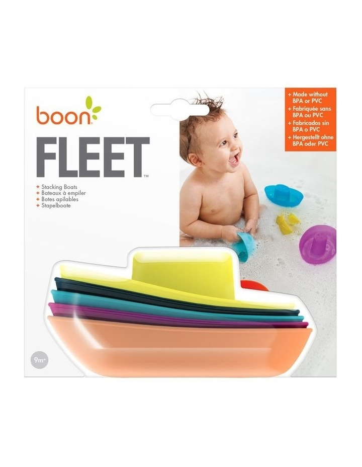 Boon Fleet Stacking Boats Bath Toy image 1