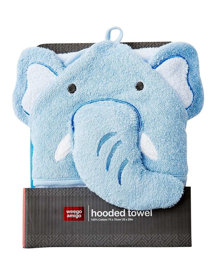 Colourplay Hooded Towel - Elephant image 1
