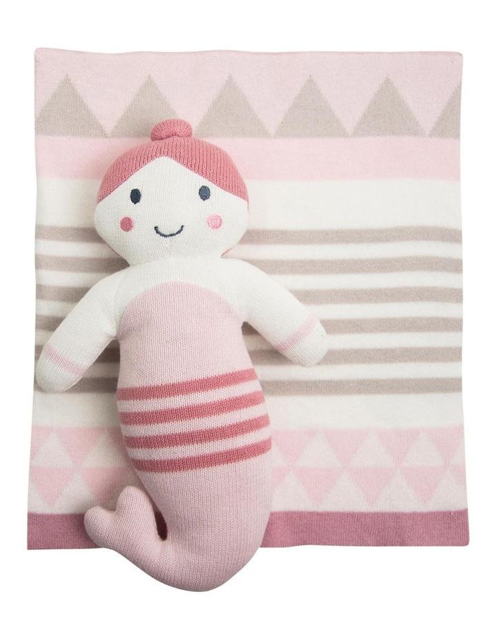 Knit Toy/ Blanket Comforter - Pink Mermaid image 1