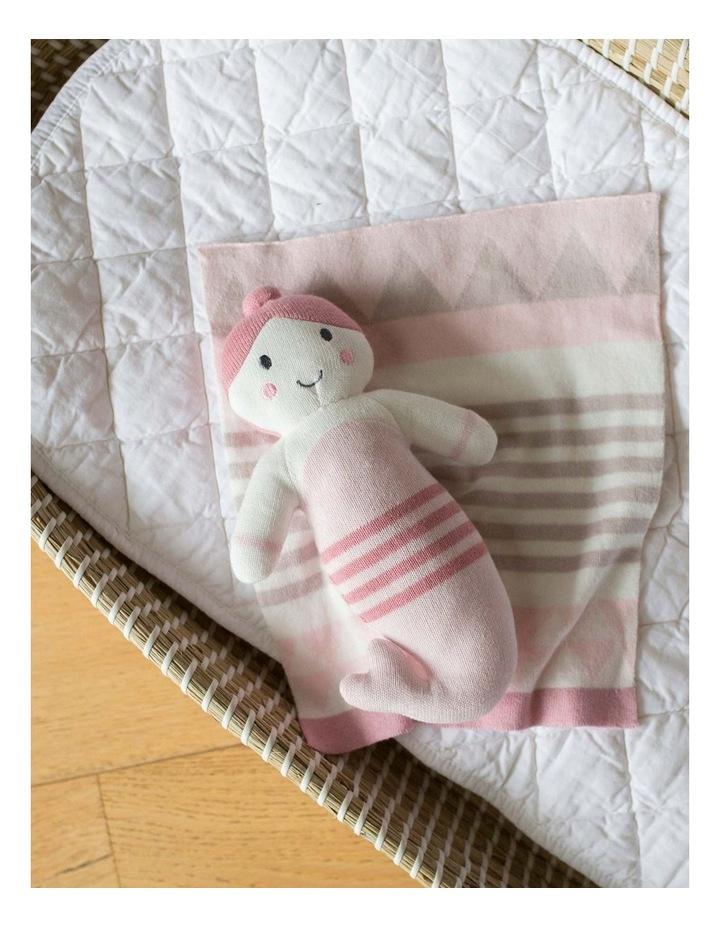Knit Toy/ Blanket Comforter - Pink Mermaid image 2
