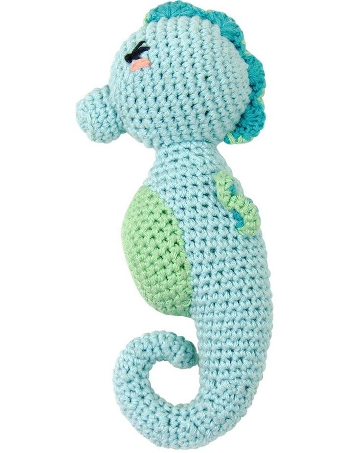 Crochet Rattle - Seahorse image 1