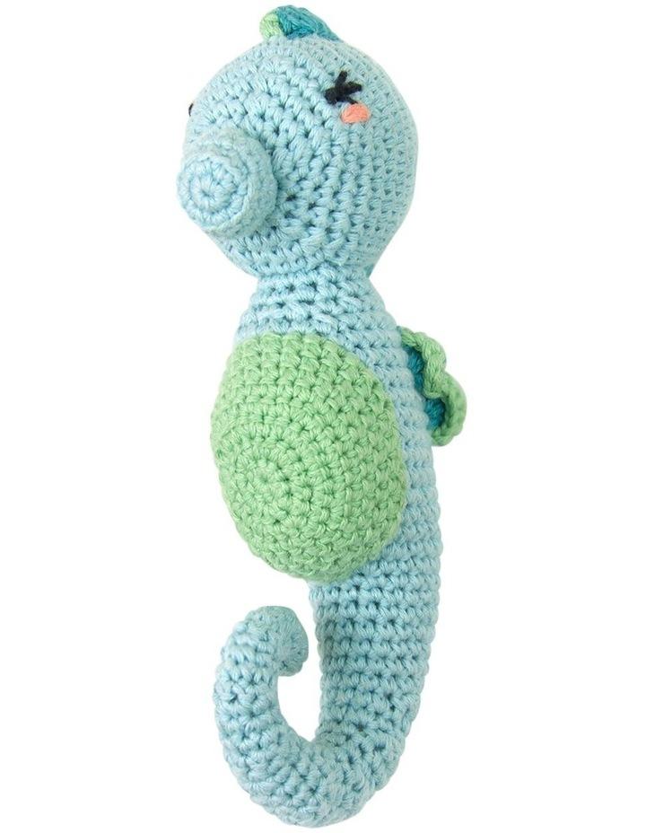 Crochet Rattle - Seahorse image 2