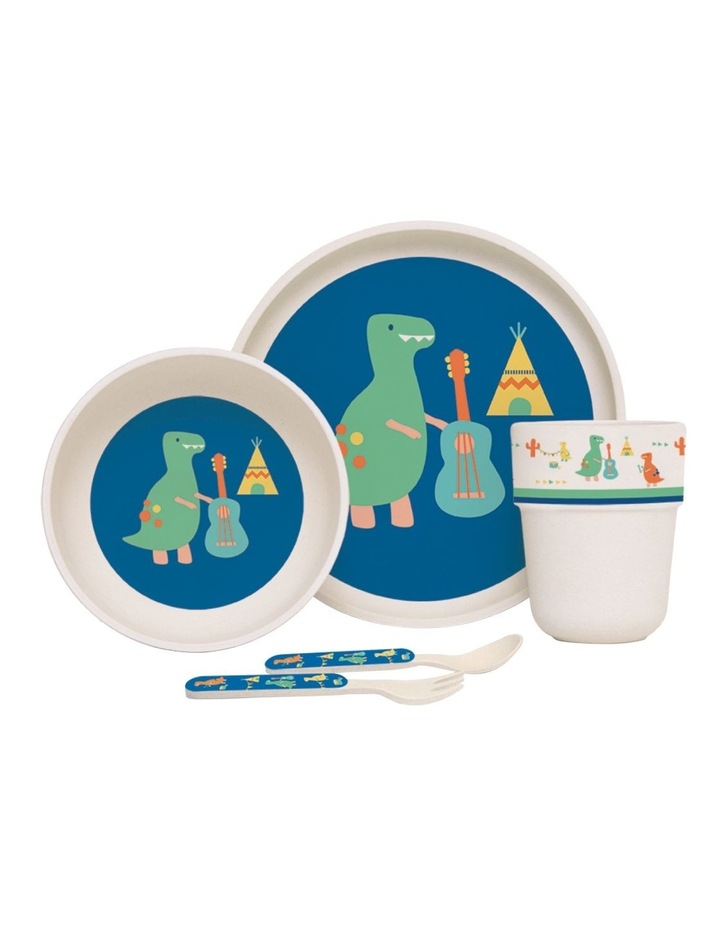 Bamboo Meal Set with cutlery image 1