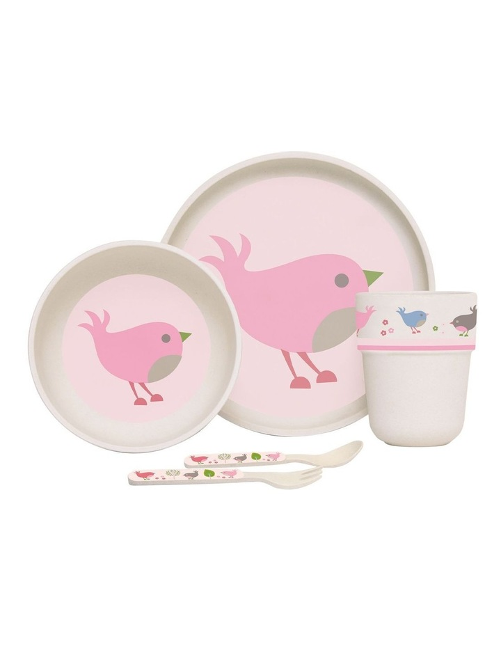 Chirpy Bird Bamboo Meal Set with Cutlery image 1