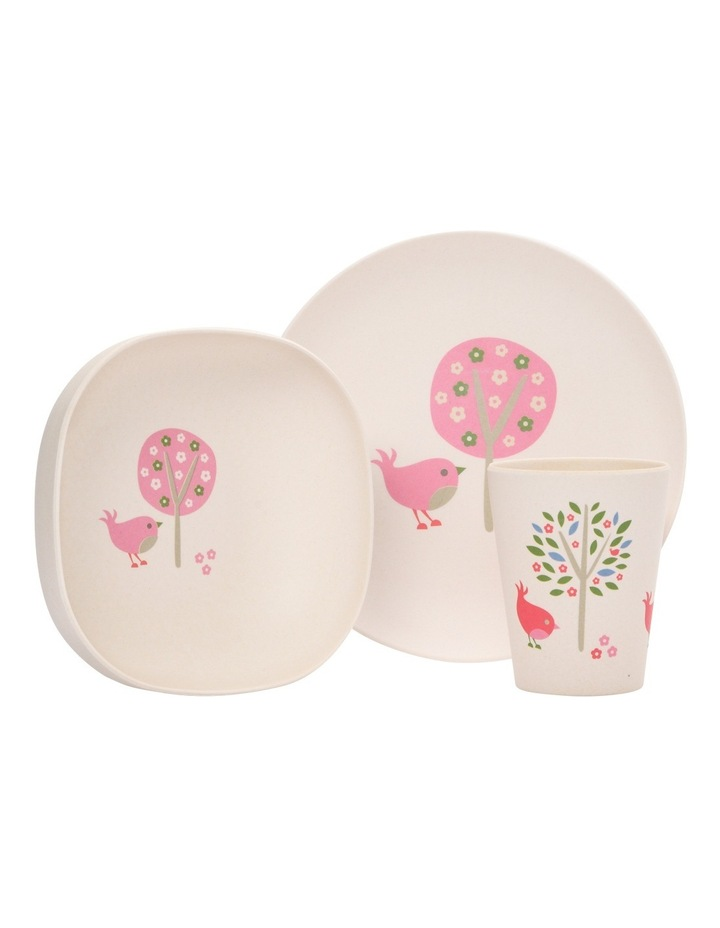 Bamboo Meal Set Chirpy Bird image 1