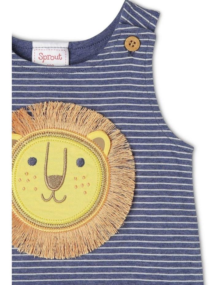 Sleeveless Romper with Embellished Lion image 2
