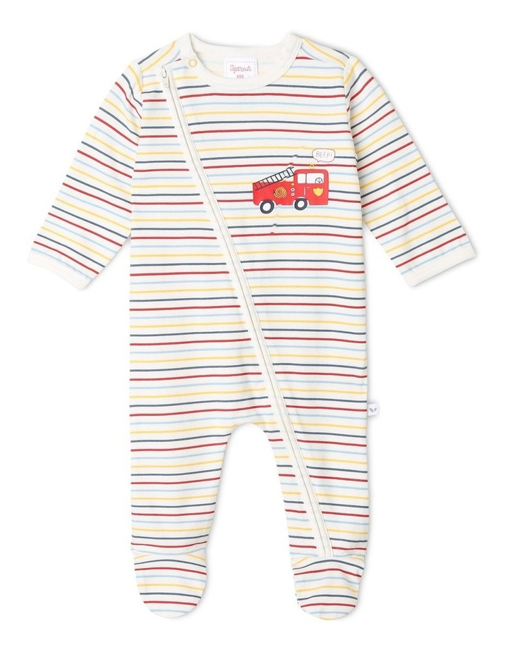 Boys Essential Striped Coverall image 1