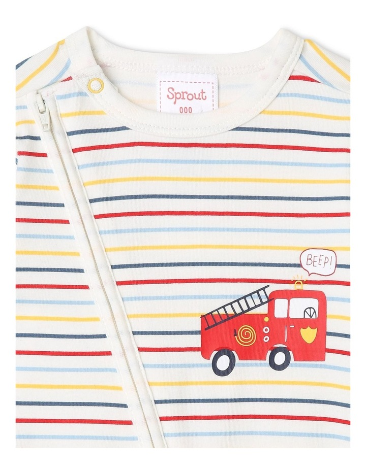 Boys Essential Striped Coverall image 2