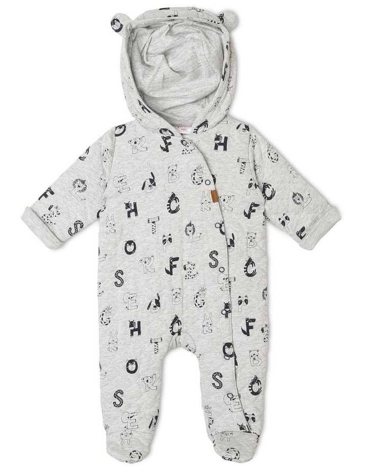 Alphabet Quilted Coverall image 1