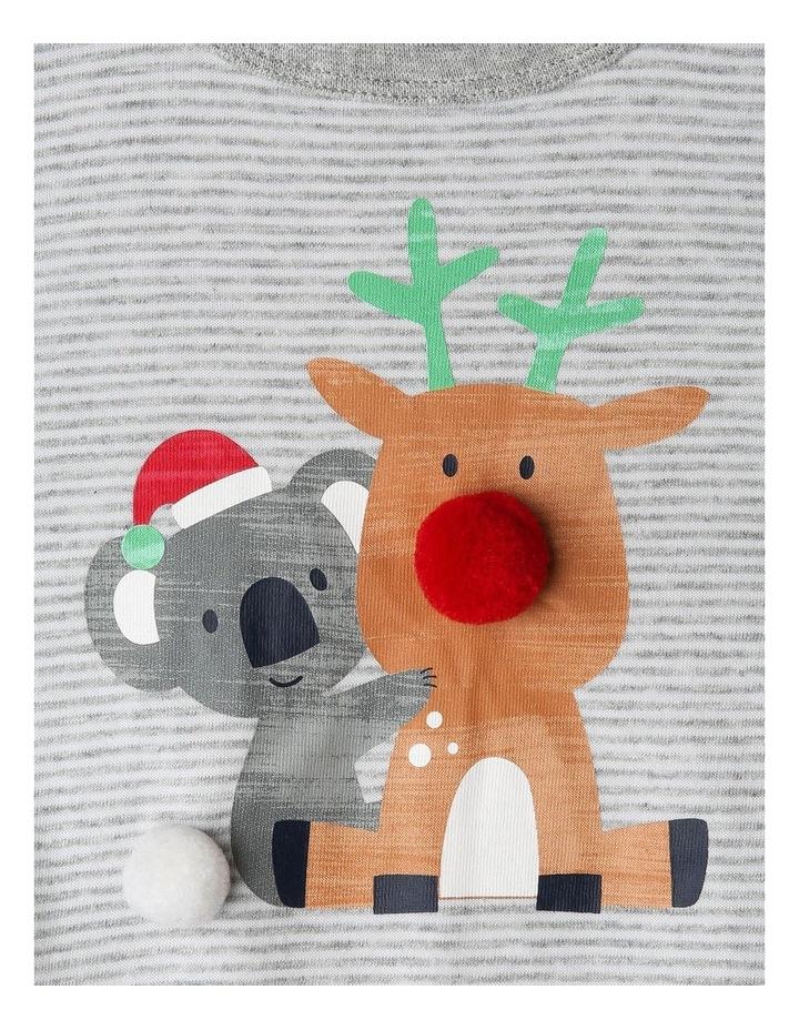 Xmas 3D Koala & Reindeer Hug Bodysuit image 2