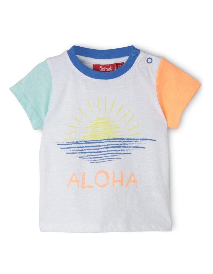 Aloha Print Slub Tee image 1