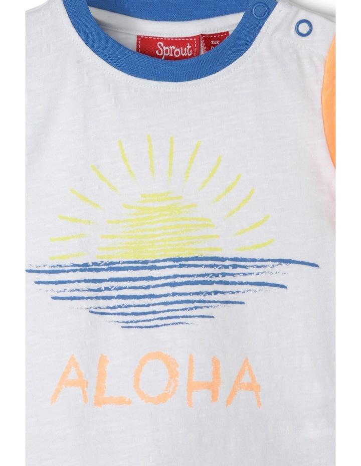 Aloha Print Slub Tee image 2