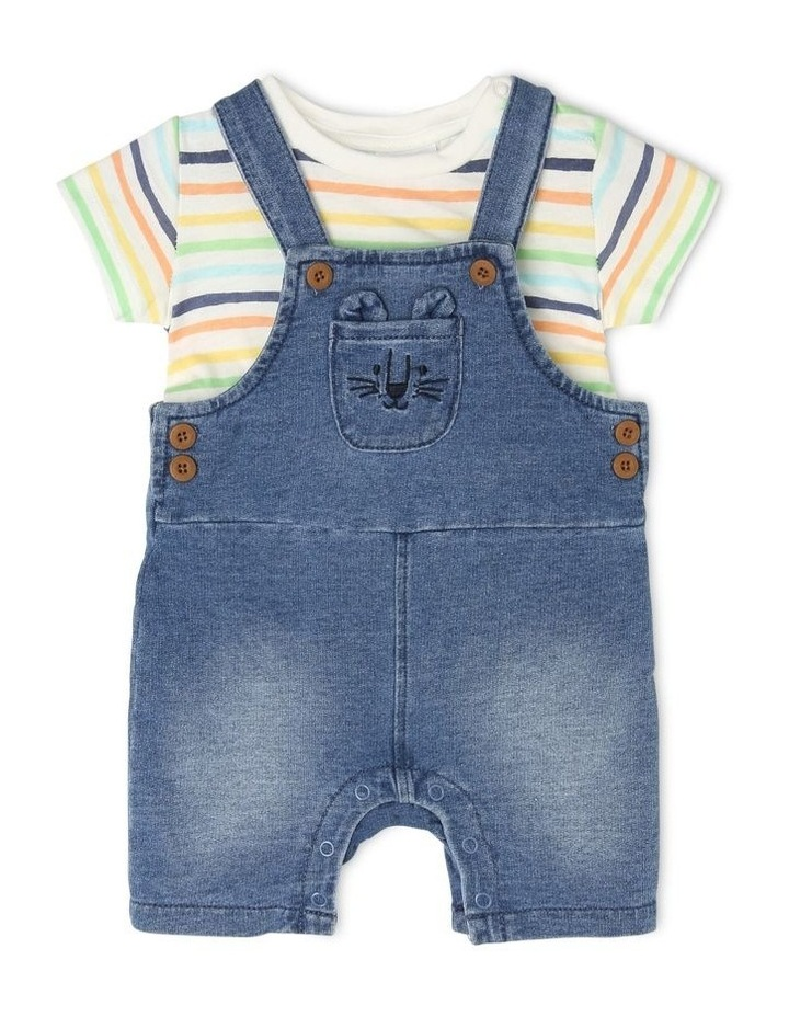 Overall Set with Stripe Tee image 1