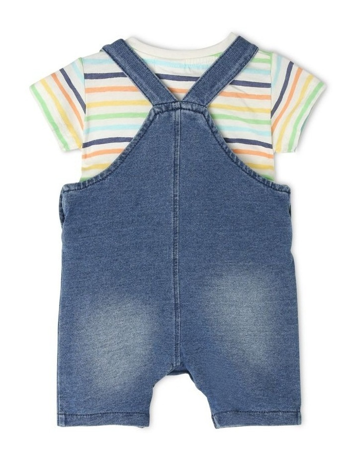 Overall Set with Stripe Tee image 2