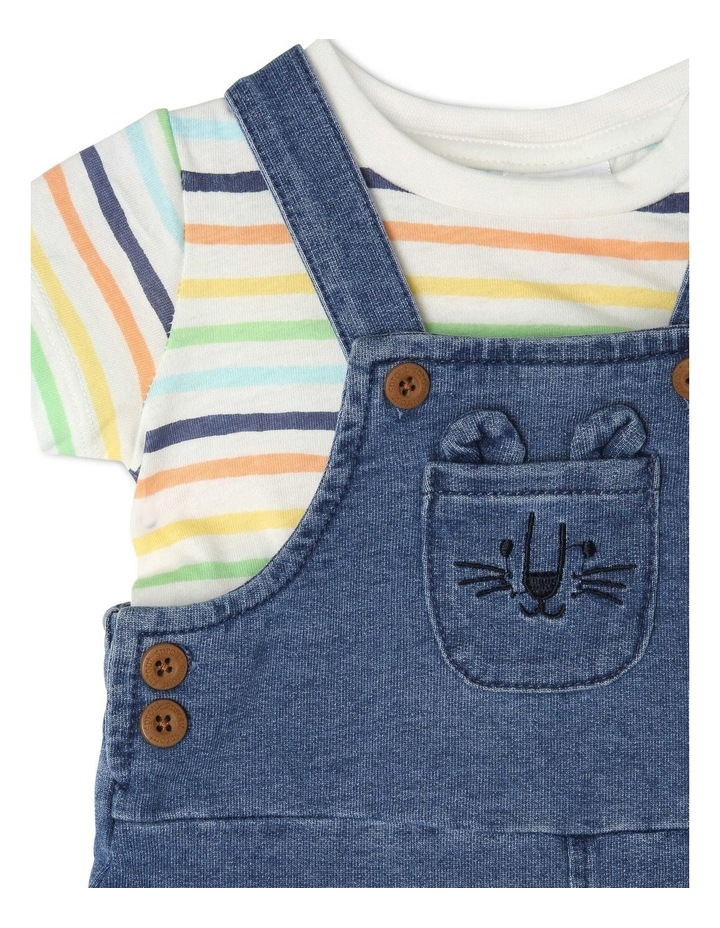 Overall Set with Stripe Tee image 3