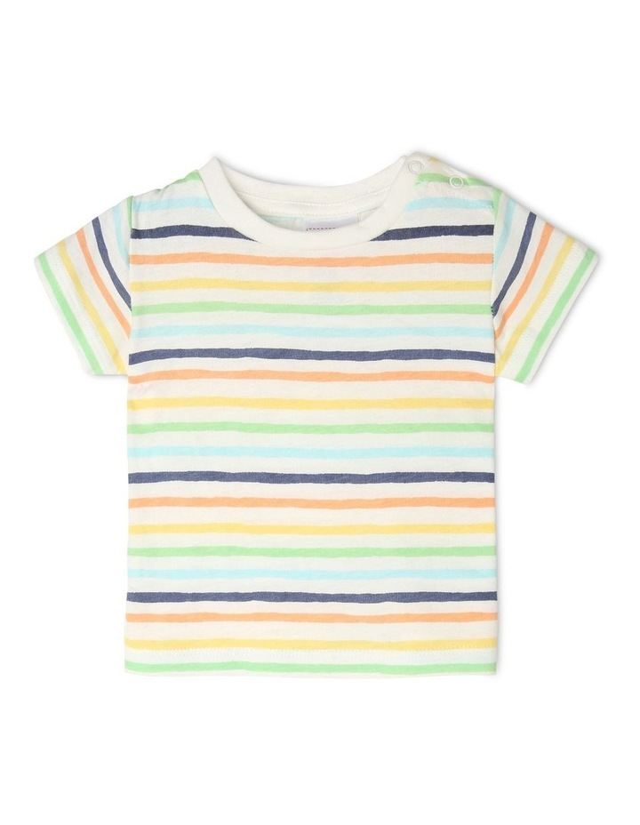 Overall Set with Stripe Tee image 4