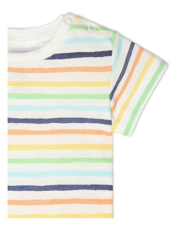 Overall Set with Stripe Tee image 5