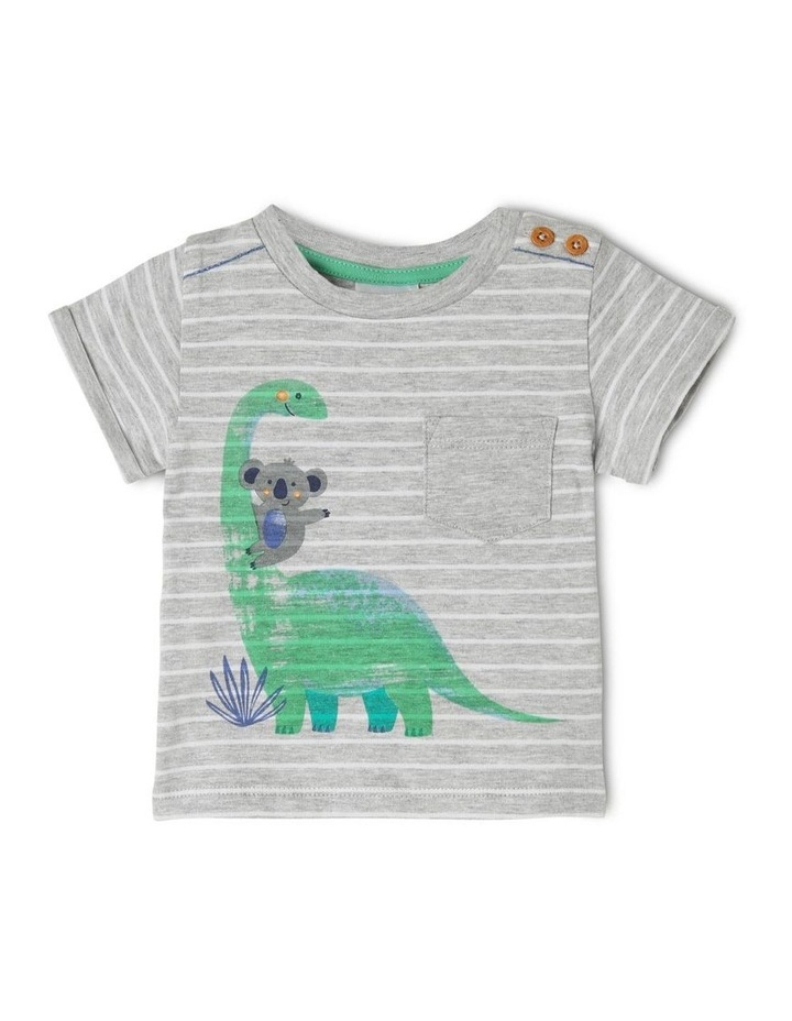 Short Sleeve Dino Stripe T-Shirt image 1
