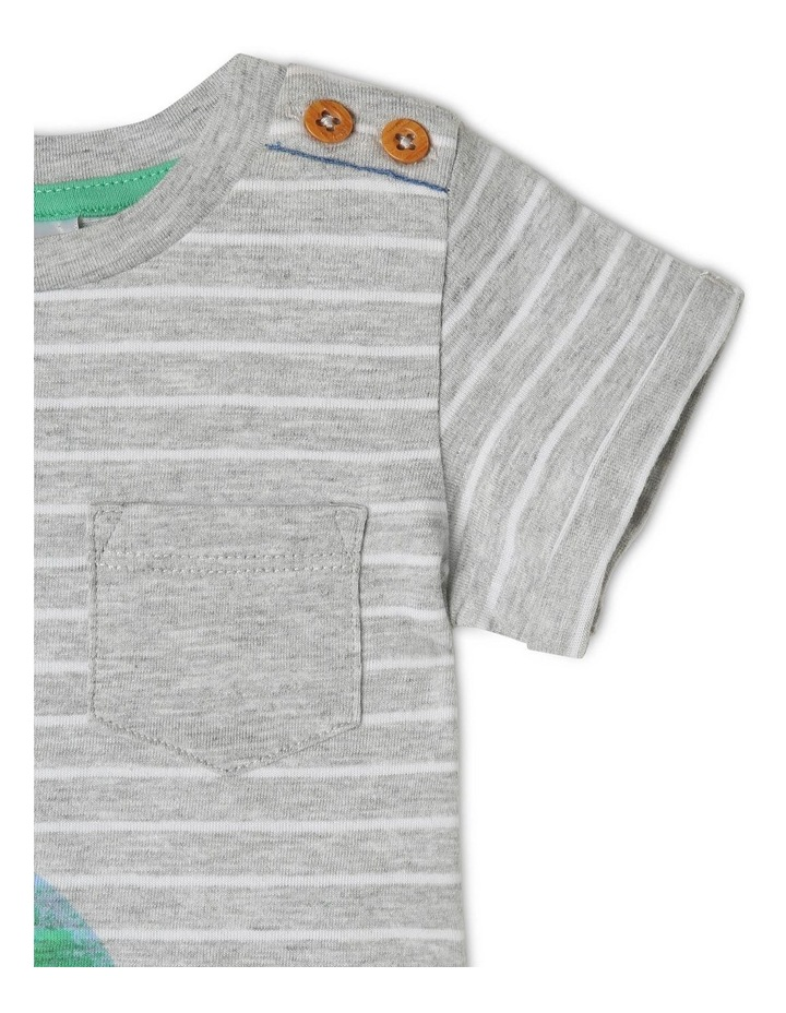 Short Sleeve Dino Stripe T-Shirt image 2
