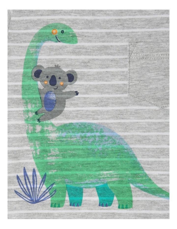 Short Sleeve Dino Stripe T-Shirt image 3