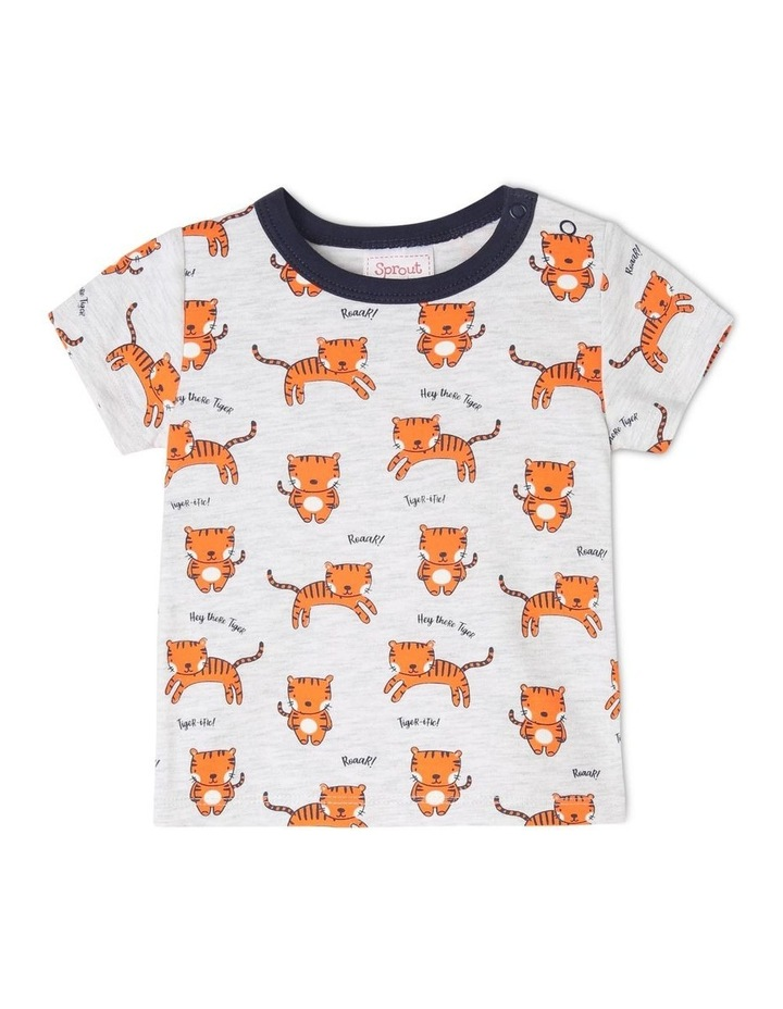 Essential Short-Sleeve T-Shirt - Tiger/Grey Marle image 1