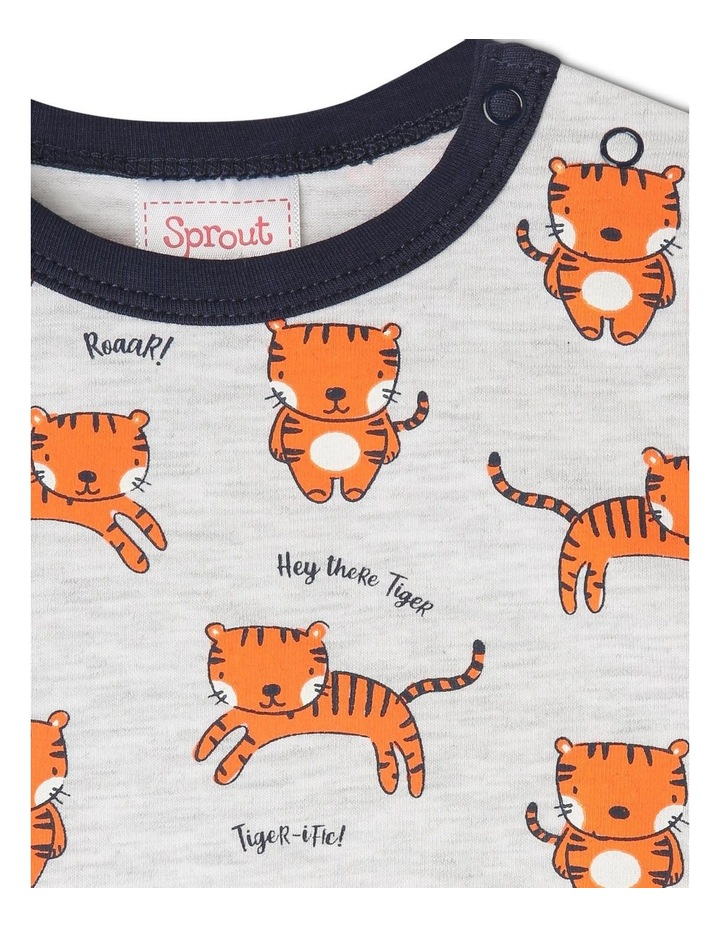 Essential Short-Sleeve T-Shirt - Tiger/Grey Marle image 2