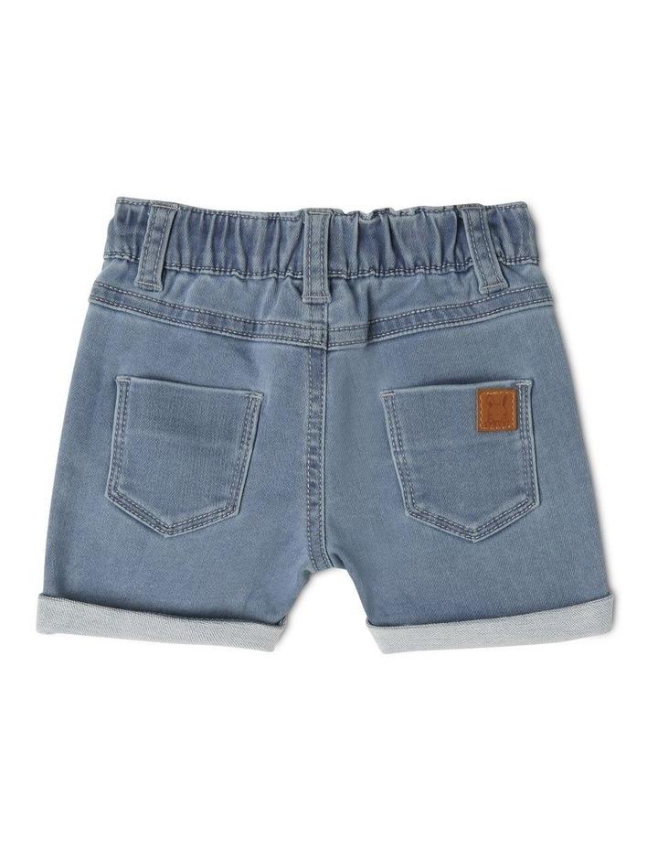 Knit Denim Shorts image 2